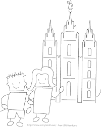 Small Picture Mormon Share Kids at the Temple Coloring Page