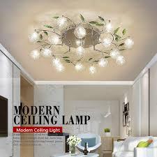 Modern Lustre Crystal LED Ceiling Lamp Flower Lamp Shade Bedroom Balcony  Aisle Ceiling Lamps Light Fixture Lighting Luminaire Ceiling Light Ceiling  Lamp Led ...