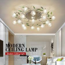 modern re crystal led ceiling lamp flower lamp shade bedroom balcony aisle ceiling lamps light fixture