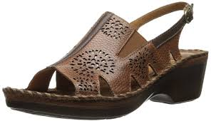 Ariat Women's Polly Ray Sandal, Almond, 8.5 M US. ATS Technology provides  all day stability and comfort. Dur…   Womens sandals wedges, Wedge sandals,  Womens sandals