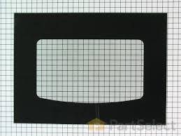 exterior oven door glass black