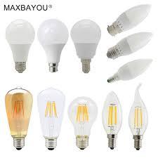 Led Virtual Filament Light Bulb E14 E27 B22 3w 4w 5w 6w 7w 9w Led Filament Candle Bulb Light Globe Lamp Day Warm