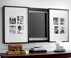 hidden tvs- gallery frame tv cover to display photos or artwork for a 60-