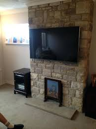 mount tv on existing stone fireplace installing wall best