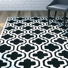 black white moroccan rug view full size and area hand tufted wool ivory trellis bath