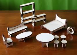 mid century modern dollhouse furniture. Sustainable Mid Century Modern Dollhouse And Matching Furniture In Home Furnishings Category O