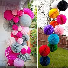 Ceiling Ball Decorations Mesmerizing 32cm Diameter Paper Honeycomb Flower Ball Handmade Hanging Ornament