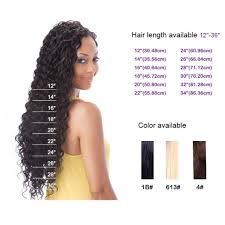 Weave Inches Chart 12 To 20 Inch Virgin Brazilian Deep Wave Hair Weft Best Sale