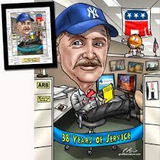 retirement caricature gift