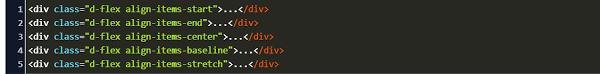 flex direction in bootstrap 4 code exle