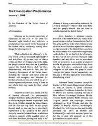 emancipation proclamation worksheet worksheets library  emancipation proclamation essay