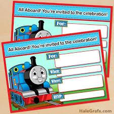 train invitation template free free printable thomas the tank engine birthday invitation little