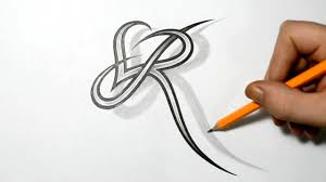 Letter R And Heart Combined Tattoo Design Ideas For Initials Youtube