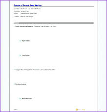 Effective Team Meeting Agenda Template Examples Free To Download ...
