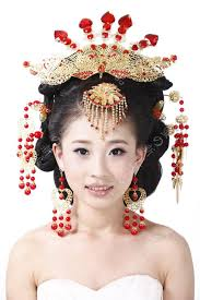hair and cost average makeup wedding costume hanfu bride 2017 coronet chinese hair accessory