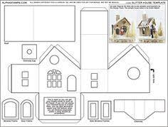 Printable Christmas House Template Festival Collections