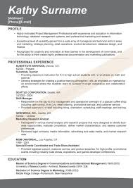 Sample Effective Resume Free Resume Examples By Industry Job