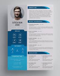 Modern Formatted Resume Templates 40 New High Quality Freebies For 2019 Resume Design