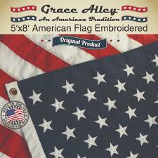 american flag 100 american made us flag 5x8 ft quality embroidered stars