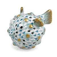 herend puffer fish tricolor aquatic