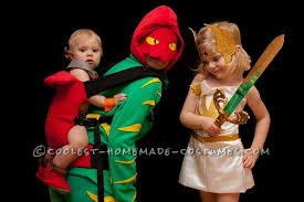 coolest masters of the universe family costume he man she ra and battlecat