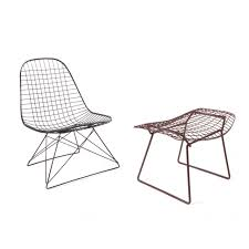 LKR-2 Charles Eames Wire Lounge Chair and Harry Bertoia Wire ...