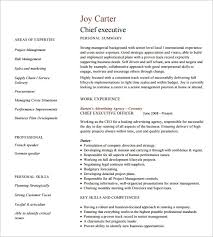 Resume Template Executive All About Letter Examples