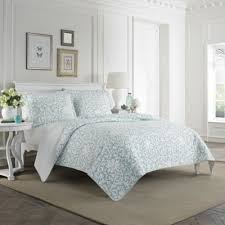 Buy Twin Quilts from Bed Bath & Beyond & Laura Ashley® Mia Twin Quilt Set in Light Blue Adamdwight.com