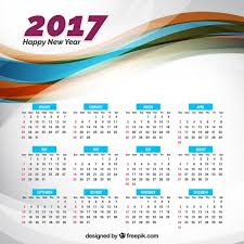 year calender 2017 new year calendar vector free download