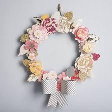 Christmas Paper Flower Wreath Paper Flower Wreath Diy Under Fontanacountryinn Com