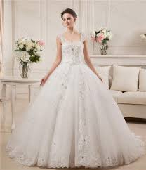 real model beaded stones ball gown wedding dresses straps cap