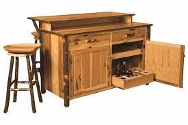 Amish Furniture Kitchen Island Amish Hickory Home Wine Bar Kitchen Island Set 2 Stools Solid Wood