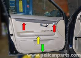 there are three areas on the door panel where you will need to remove philips head