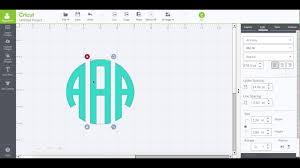 Monogram Font On Cricut Design Space True Type Circle Monogram Font For Cricut Design Studio
