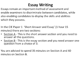 asa level business studies – essay writing mr spicer  ppt download essay writing essays remain an important method of assessment and enable examiners to discriminate between candidates