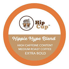 HipCup <b>High Caffeine</b> K Cups Coffee, <b>Extra</b> Strong, Hippie Hype ...