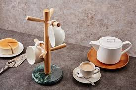 Decorative Cup And Saucer Holders Natural marble green cup holder [Classic] small mug coffee cup 48