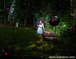 love the look of lighting when its getting dark outside on location studio lighting setup allison shelby lighting workshop setup