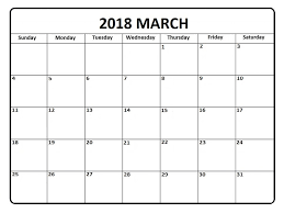 month template 2018 march 2018 calendar in pdf word excel printable template monthly