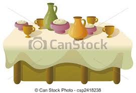 dinner table clipart.  Clipart Dinner Table  Csp2418238 Inside Table Clipart