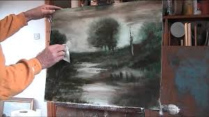 oil painting using 2 colours and linseed oil you