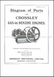 diagram of parts for crossley gas or benzine engines crossley diagram of parts for crossley gas or benzine engines crossley books transfers books transfers plates stationary engine parts