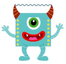 big e purple monster animated clipart size 295 kb