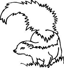 Small Picture Skunk Cautious of Enemy Coloring Page Color Luna