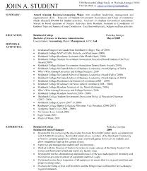 Examples Of One Page Resumes Sample One Page Resumes Template ...