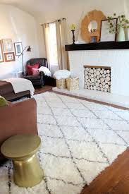 white shag rug living room. A New Moroccan Shag Rug For The Living Room | PepperDesignBlog.com. White S