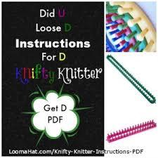 Knifty Knitter Patterns Custom Knifty Knitter Instructions PDF