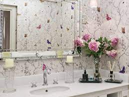 40+ Bathroom wallpaper ideas - floral ...