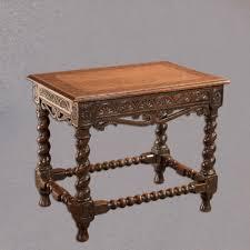 antique jacobean revival side table english oak victorian hall furniture c1880