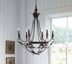 madeline bronze metal leaves chandelier